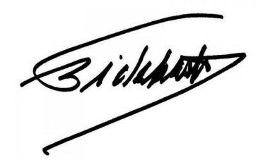 Unterschrift: Fidel Castro Ruz, 07.Mai 2015